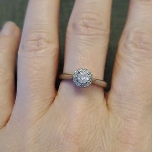 Michael Hill 925 silver cubic zirconia ring